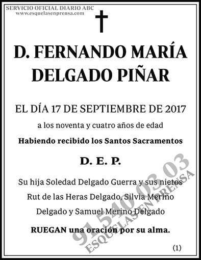 Fernando María Delgado Piñar